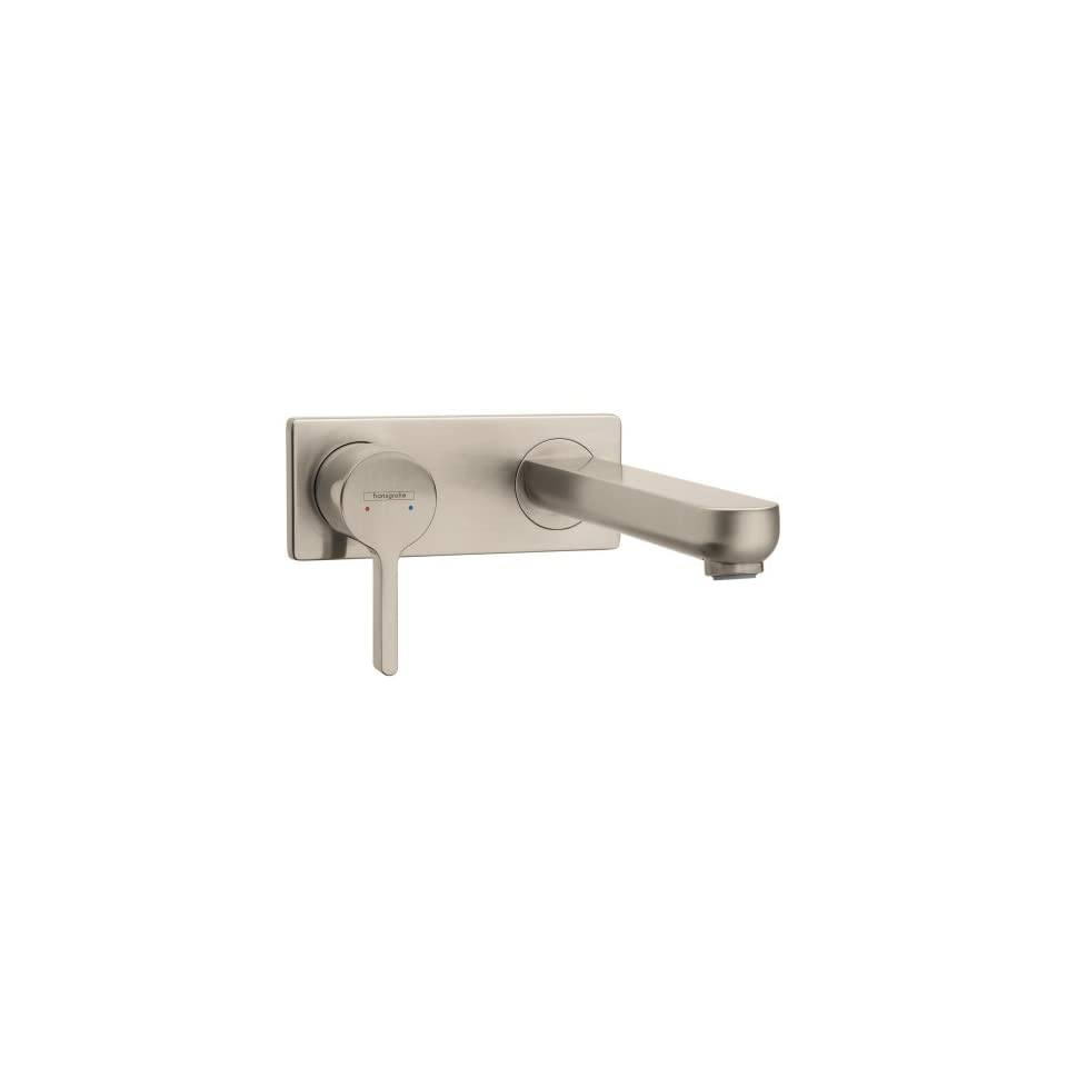 Hansgrohe 31163821 Metris S Wall Mounted Single Handle Faucet, Brushed Nickel