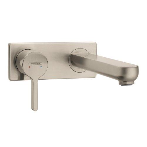 Hansgrohe 31163821 Metris S Wall-Mounted Single Handle Faucet, Brushed Nickel - Metris Single Handle