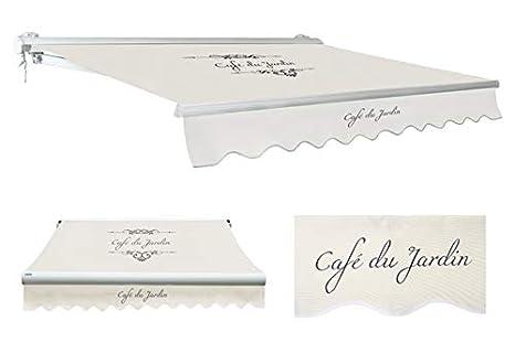 Primrose Toldo Semi-Cofre Manual de Color Cafe Du Jardin Marfil, 3.5m: Amazon.es: Jardín