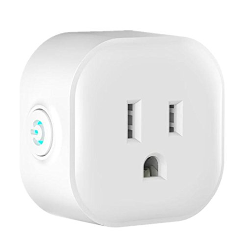 Price comparison product image Amiley Smart Switch, 4 Pcs Smart Plug WI-Fi Enabled Mini OUTLETS Smart Socket Control Your Electric Devices From Anywhere Works With Amazon Alexa and IFTTT Google Assistant (White)