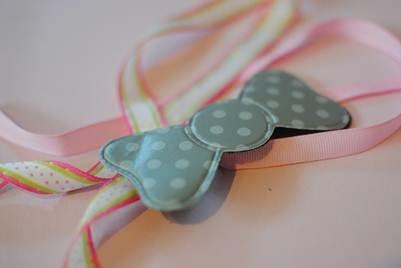 Japanese Kamipita Magic Velcro Bow Tie Hair Bangs & Fringe Holder - GRAY