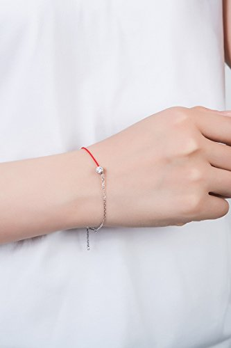 Silver era s925 Silver Color Double Surprise Black Snow Lettering Women Girls red String Bracelet Bangle Transit Personalized Gift