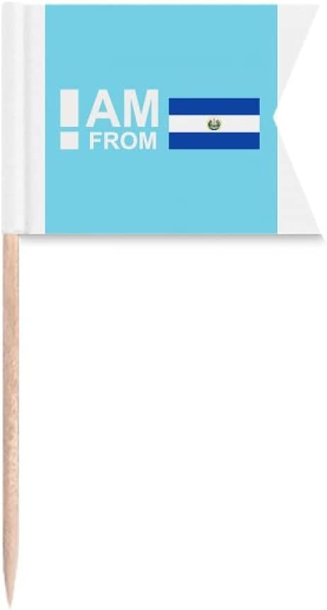 I Am From El Salvador Art Deco Gift Fashion Toothpick Flags Labeling Marking for Party Cake Food Cheeseplate