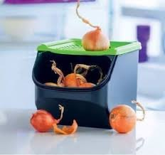 Black Modular Base (TUPPERWARE MODULAR MATES GREEEN COVER BLACK BASE ONION & GARLIC SMART CONTAINER 3 qt./3 L)