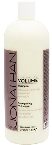 Jonathan Product Infinite Volume Shampoo - Sulfate Free Treatment for For Fine and Thin Hair - Strengthening, Volumizing - Men, Women - Safe for Color Treated Hair 32 Oz - Banana Curl Wig