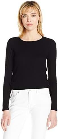 Splendid Women's Drapey Lux Rib Lace up Top Black