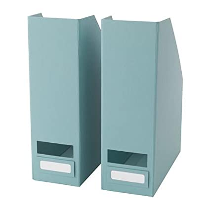 Exceptionnel Set Of 2 Ikea Tjena Magazine File Organizer Storage (Light Blue)