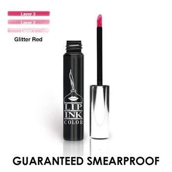 (LIP INK Liquid Lip Color Lipstick - Glitter Red (Red)   Natural & Organic Makeup for Women by Lip Ink International   100% Organic, Kosher, Vegan)