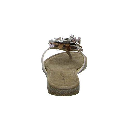Lazamani 33,643 Damen Pantolette bis 30mm Absatz Rot (Beige)