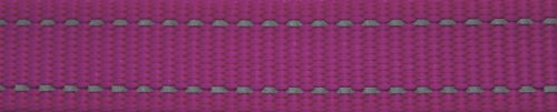 Picture of ROGZ Utility Medium 5/8-Inch Reflective Snake Dog Collar, Pink