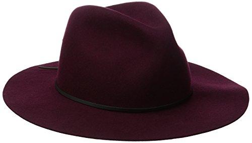 Coal Men's The Dex Wide Brimmed Hat Wool Felt Fedora, Burgundy, Medium ()