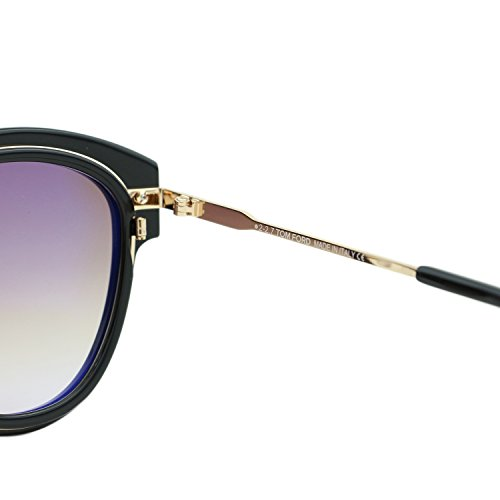 d9460b2dcc8 Tom Ford FT0574 01T Shiny Black Mia Round Sunglasses Lens Category 2 Size  52mm
