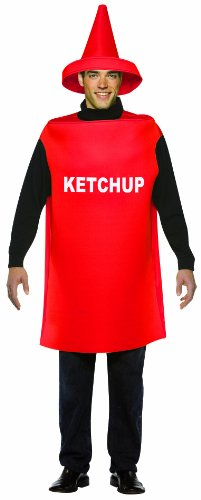 Food And Drink Halloween Costumes (Rasta Imposta Lightweight Ketchup Costume, Red, One Size)