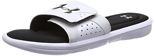 Under Armour Men's Ignite Slides, White/Black, 11 D(M) (Footwear Men)