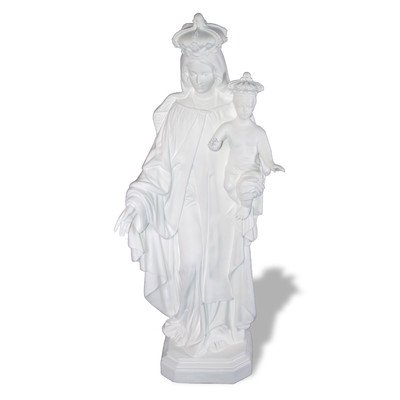 Amedeo Design ResinStone 1100-23IPC Our Lady of Mt. Carmel, 14 by 18 by 57-Inch, Multicolored (Lady Pottery Figurine)