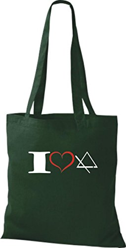 Triangle Shirtstown Vert Tissu I Musique Pochette En Love wwYqapC