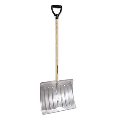 UnionTools 14.25-Inch Hardwood Handle Poly Snow Scoop - 1681500