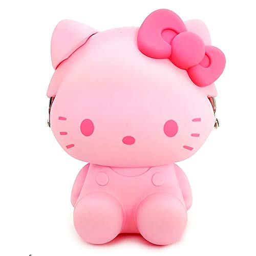 p+g design Sanrio Hello Kitty 3D Pochi Silicone Mini Purse (Pink)