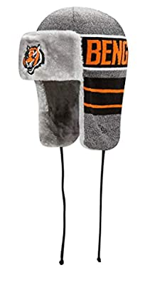 New Era Cincinnati Bengals NFL Frosty Trapper Fur Lined Knit Hat