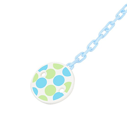 Yunchao Nipple Chain Clip, Baby Pacifier Chain, Tooth Glue Chain (Blue)