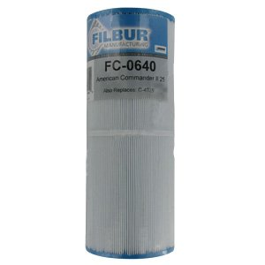 Filbur FC-0640 Antimicrobial Replacement Filter Cartridge for American Commander/Pentair II Pool and Spa Filter