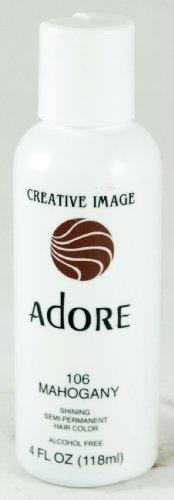 Adore Semi-Permanent Haircolor #106 Mahogany 4 Ounce (118ml) - Mahogany Semi