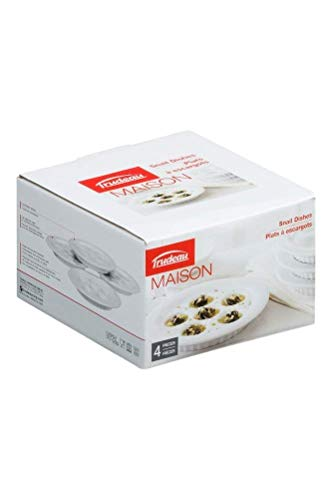 (Trudeau Escargot Dishes, Set of 4)