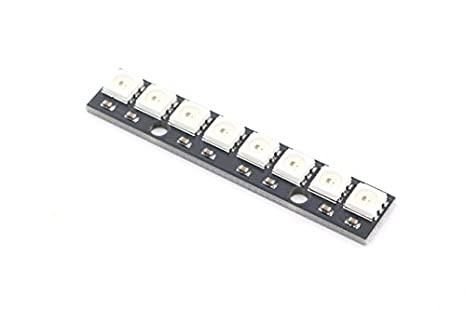 detailed look 5ff3b 5b9c4 SMAKN 8 Bit WS2812 5050 RGB LED Driver Development Board(black)