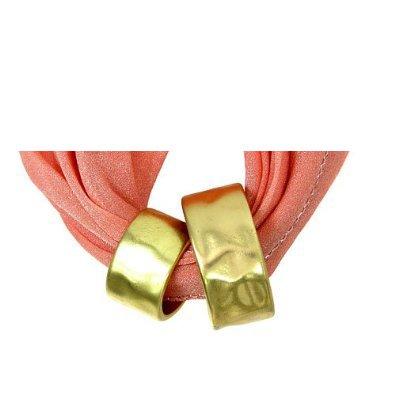 Fashion Jewelry ~ Goldtone Loop Circle Scarf Charm Pendant (Scarf Charm 027b 47)