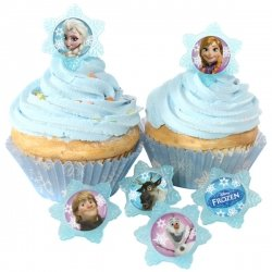 24 Frozen Adventure Friends Cupcake Ring -