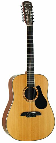 Alvarez Artist Series AD60-12 Dreadnought Twelve String Acoustic Natural/Gloss Finish Alvarez Acoustic Guitar Picks
