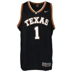 80930d3b929a3 Image Unavailable. Image not available for. Color: Nike Texas Longhorns #1  Black Replica Basketball Jersey
