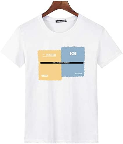 LI-Beauty Mens Casual Slim Fit Short Sleeve T-Shirts Cotton Soft Lightweight Crew-Neck