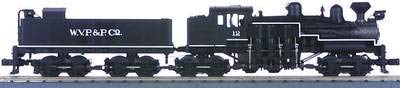 MTH 1:48 O Scale West Virginia Pulp Paper 4-Truck Shay Steam Engine #20-3023-1