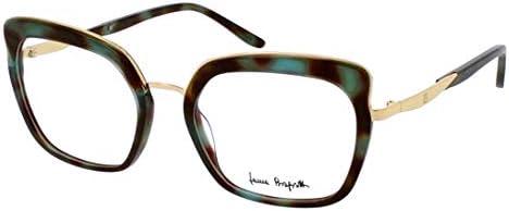 Laura Biagiotti Eyewear VLB.149.16 – Havane Green Front/Endtip Shiny Gold Metal Parts Plastic Frame