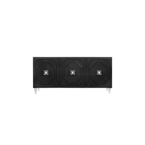Tov Furniture Andros Collection 3 Door Dining Room Buffet, Black by Tov Furniture