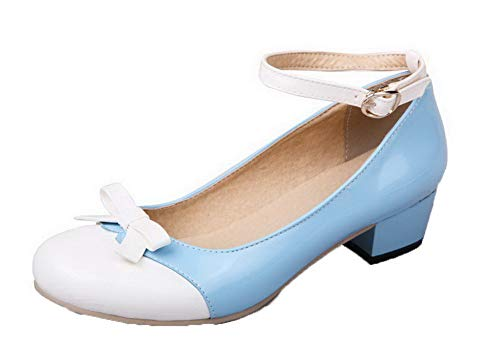 Assortito Fibbia flats Ballet Colore Azzurro Agoolar Gmmdb006406 Maiale Pelle Di Donna xTqHTB