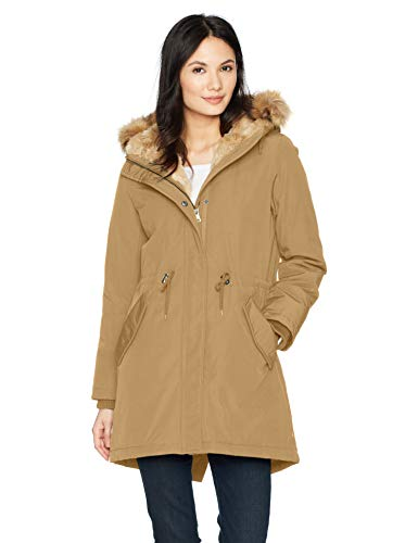- Levi's Women's Faux Fur Lined Hooded Parka Jacket, tan, Small