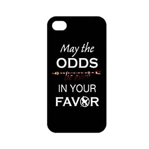 (CASEI)Hi-Q The Hunger Games Quote MAY THE ODDS BE EVER IN YOUR FAVOR Unique Pattern Plastic Hard Case for iPhone 4/4S