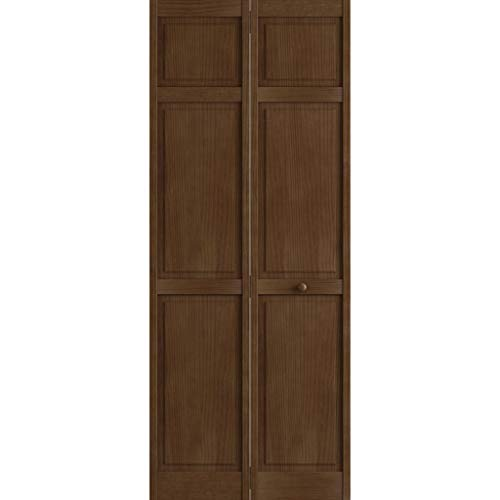 Kimberly Bay Traditional Six Panel Espresso Solid Core Wood Bi-fold Door (80x36)