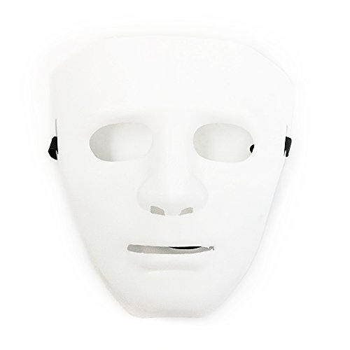 Hiphop Jabbawockeez Cosplay Costume Halloween Masquerade Mask White]()