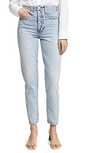 Joe's Jeans Women's x We Wore What Danielle High Rise Straight Jeans, Vintage Light, Blue, 24