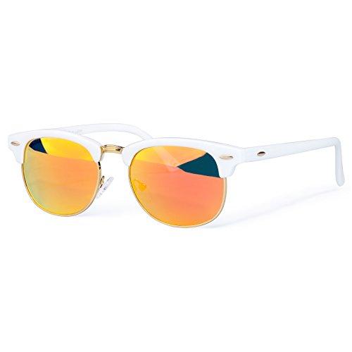 Classic Clubmaster Sunglasses for Men &Women, FDA Standard Glasses,100%UVA/UVB Eyes Protection Semi Rimless - Fda Sunglasses