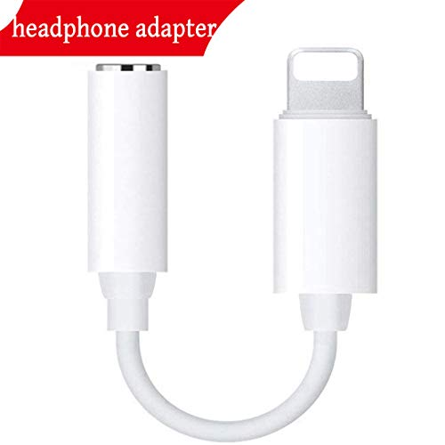 Headphone Adaptor for iPhone Adapter 3.5mm Jack Dongle Earphone Connector Convertor AUX Audio Headset Accessories Cable Audio Splitter Compatible for iPhone X XS XS Max 8/8Plus Support iOS 11 or Later