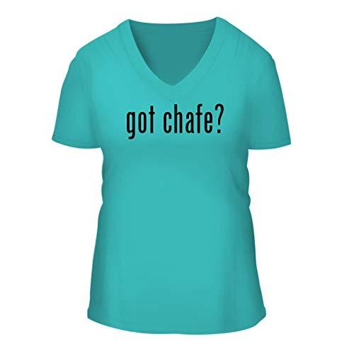 got Chafe? - A Nice Women's Short Sleeve V-Neck T-Shirt Shirt, Aqua, Large