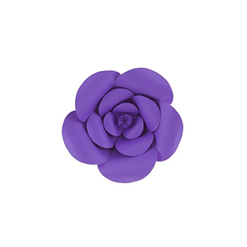 "Mega Crafts 8"" Handmade Paper Flower in Purple 