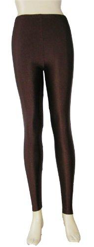 candy-multi 10colores alta elástica Bañador tela ajustado Leggings pantalones para mujer Coffee