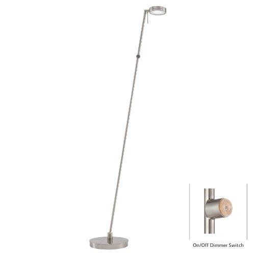 (George Kovacs P4304-084, George's Reading Room, 1 Light LED Pharmacy Floor Lamp, Brushed Nickel Finish )