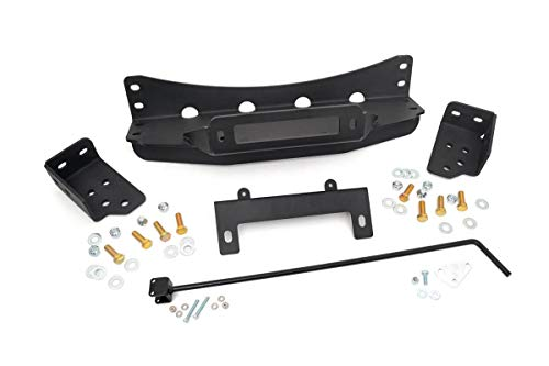 - Rough Country 1080 - Hidden Winch Mounting Plate (fits) Chevy 2007-2013 Silverado 1500 GMC 2007-2013 Sierra 1500