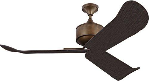 Monte Carlo 3DYR56AGB Protruding Mount, 3 Dark Walnut Blades Ceiling fan, See Image